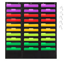 Organization Pocket Chart Wall File Pocket Folder Organizer With 30 Chart Plus 5 Hangers Hooks The Perfect