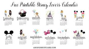 Calendar Free Downloads 2018 Disney Lovers Calendar Free Downloadable Calendar