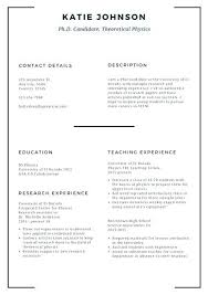 Scholarship Resume Format Custom Template For College Students Example A Student Resume With No