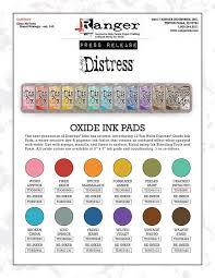 Distress Ink Color Chart 2017 2017 Video Time 14 41 Tim Holtz Distress Oxide Ink Pad Set