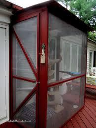 85 best cat porches images on diy screen enclosure kits