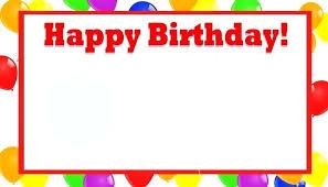 Word Birthday Card Template Iamfree Club