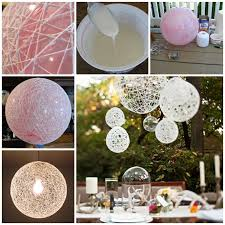 How To Make Decorative String Balls Wonderful DIY Decorative String Chandelier With Yarn and Balloon 2
