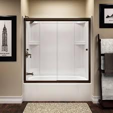 timely home depot bathtub shower doors sterling finesse 59 5 8 in x 55 1 2 semi frameless sliding