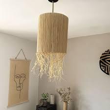 Io sarò il frutto dell'acacia e la sua voce. Abat Jour En Raphia Naturel 30 Cm A Suspendre Ou Pour Lampe