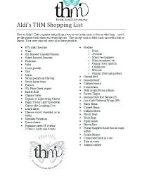 Friendly Shopping List Food Charts Trim Healthy Mama Fp