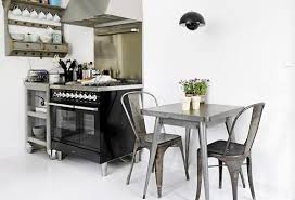 xavier pauchard french industrial dining room furniture. Industrial Kitchens Look Fabulous With The Tolix Galvanised Chairs Xavier Pauchard French Dining Room Furniture