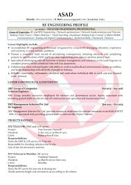 Rf Engineer Sample Resumes Download Resume Format Templates