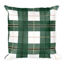 plaid throw pillows. Exellent Throw Green Buffalo Plaid Throw Pillow With Or Without Insert U2013 Khristian A  Howell Throughout Pillows R