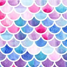 Mermaid Pattern Best Mermaid Scales Watercolor Fish Scales Bright Summer Pattern