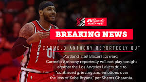REPORT: Carmelo Anthony