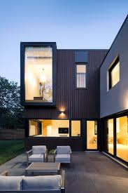Marvelous home remodeling ideas of connaught resident featuring modern  stylish facade with cool terrace big exterior float glass window lamp  higlight table ...