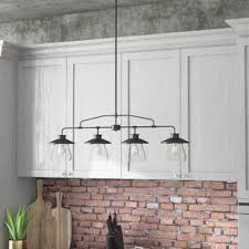 lighting above kitchen island. Island Kitchen Lighting. De Long 4-light Pendant Lighting Wayfair Above