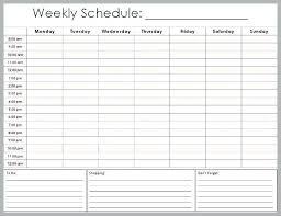 Schedule Maker Excel Template Scsllc Co