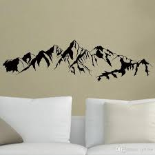 mountain wall decal vinyl self adhesive