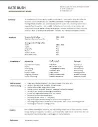 Resume Template For Accountant Resume Template Accountant Sample And