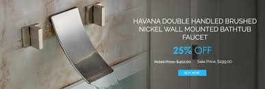 installation manual for havana double handled brushed nickel wall mounted bathtub faucet