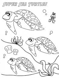 Super Sea Turtle Coloring Page | Animal Coloring pages of ...