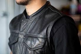 leather vest fashion