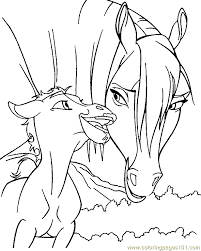 Small Picture Horse Coloring Page 09 coloring page Free Printable Coloring