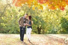 gorgeous downtown columbus fall engagement shoot