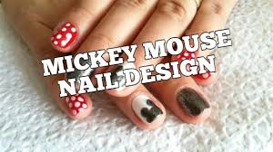 Simple Disney Nail Art Ideas for Mickey Mouse Nails