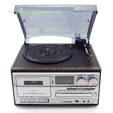 Multifunction 7-in-1 Turntable player AM/FM Radio CD Player USB \u0026 Cassette Recorder