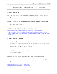 Ideas Of Apa Format Reference Sample Page Apa Format Reference Page