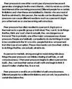 an essay on peer pressure term paper words  peer pressure essays and papers 123helpme