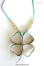 upcycled four leaf clover craft using recycled cardboard s
