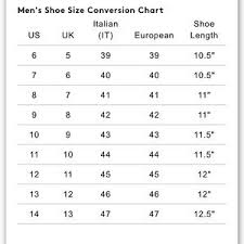Common Projects Shoe Size Chart