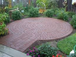cool rock concrete brick patio ideas