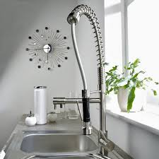 Chrome Spring Kitchen Faucet
