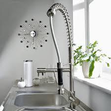 Chrome Spring Kitchen Faucet