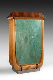 art moderne furniture. art deco dressing cabinet in sycamore and rosewood shagreen covered doors french circa moderne furniture t