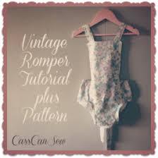 Baby Romper Pattern Free Mesmerizing Free Pattern Vintage Style Baby Romper Sewing