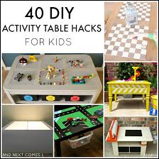 40 diy activity table s for kids including lego tables light tables art