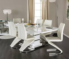 white dining table set. Furniture Of America Midvale CM3650T White Dining Set | MIDVALE Contemporary Lacquer Table