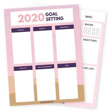 Free Goal Planning Worksheet Goal Setting Printable Pdf