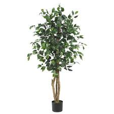 nearly natural  ft ficus silk tree  the home depot