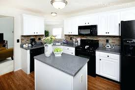 kitchens with white cabinets and black appliances. White Kitchen Cabinets Black Appliances Photo 1 Small Kitchens With And