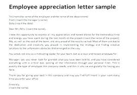 Letter Of Recognition Examples Free Employee Appreciation Certificate Template Free