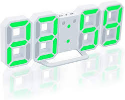 <b>3D</b> Digital Alarm Clock, EONSMN <b>LED Wall</b> Clock with Snooze ...