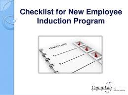 New Employee Training Program Template Checklist For New Employee Induction Program