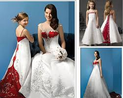 Discount Exquisite White And Red Wedding Dress Mother Daughter