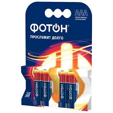 Купить <b>Батарейка ФОТОН ААА</b>/<b>LR03</b> 4 шт блистер в каталоге с ...
