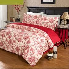 red fl cotton generous wedding queen duvet covers