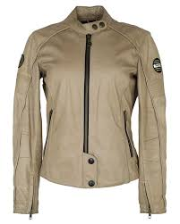 beige leather womens triumph biker jacket s image