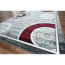 modern grey area rug black white