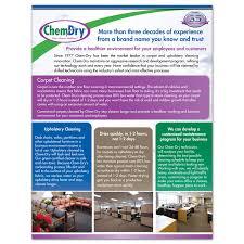 Commercial Flyers Chem Dry Flyers Franchise Print Shop